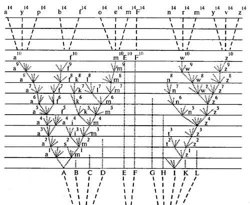 Схема дивергенции в процессе