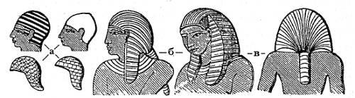 Головные уборы египтян