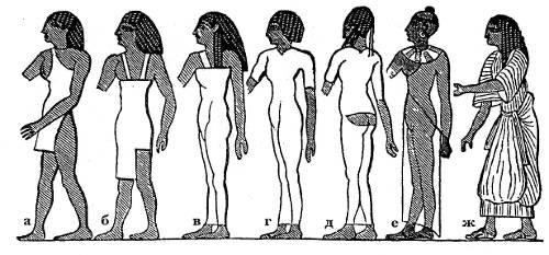 Одежда женщин в Египте