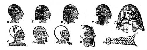 Причёски египтян