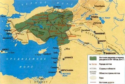 Хеттское царство в период расцвета
