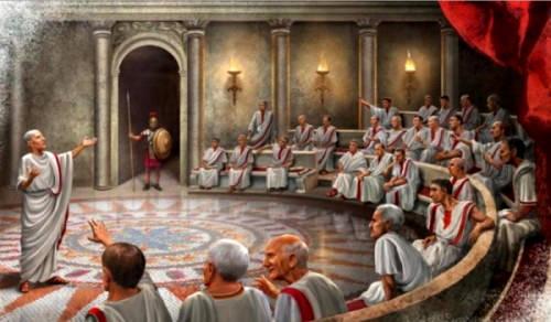 Заседание римского сената