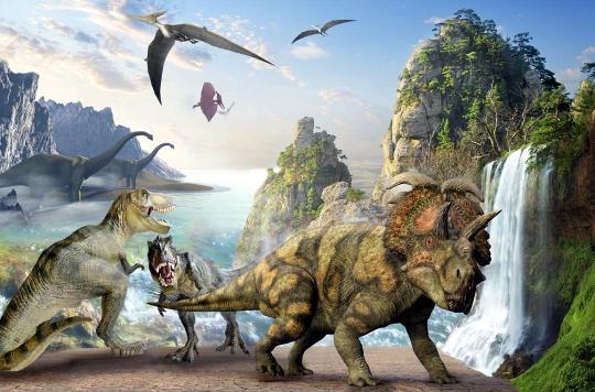 Разные виды динозавров господствовали на Земле в юрском периоде мезозоя