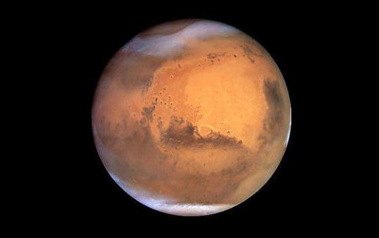 Марс — четвёртая от Солнца большая планета Солнечной системы