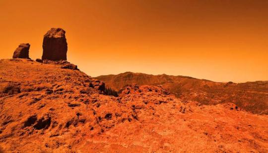 Снимок поверхности Марса, сделанный марсоходом Curiosity