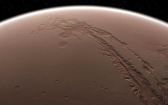 Долина Маринер на поверхности Марса