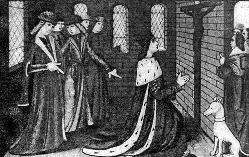 Карл VII и придворные