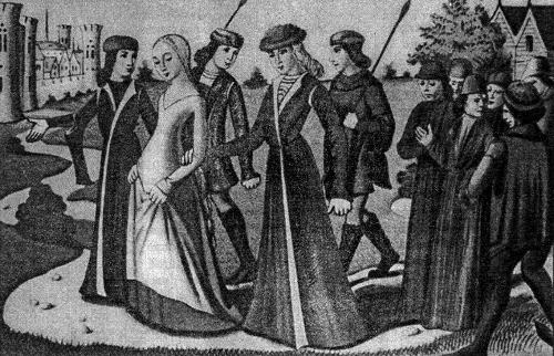 Жанну д'Арк приводят к Карлу VII в Шинон