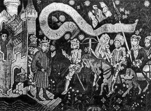 Прибытие Жанны к Карлу VII с сообщением об освобождении Орлеана