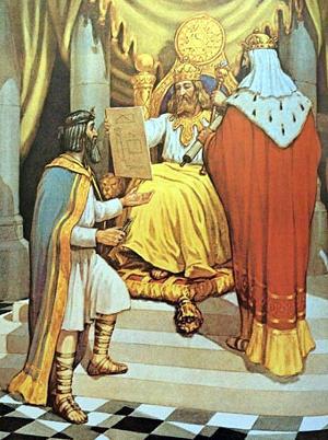 Царь Хирам упоминается в Библии в связи со строительством иерусалимского Храма